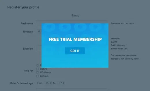 TRIAL ON SIGNUP